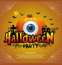 halloween party banner vector image