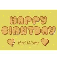Happy birthday cookies font vector