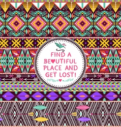 Hipster seamless tribal pattern vector