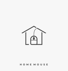 home mouse template vector image