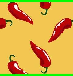 hot chili pattern yellow vector image