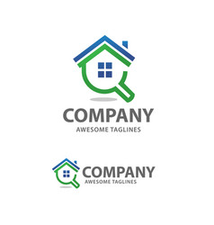 House search logo vector