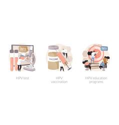 human papillomavirus prevention abstract concept vector image
