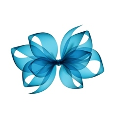 Light Blue Azure Transparent Bow Top View vector image