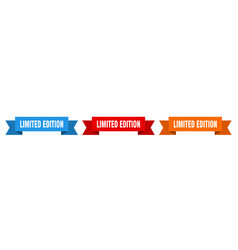 limited edition ribbon limited edition isolated vector image