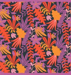 modern seamless floral pattern with hand drawn vector image