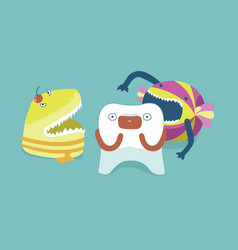 monster candy bite tooth teeth and tooth concept vector image
