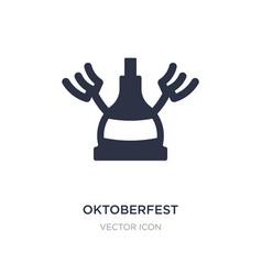 Oktoberfest icon on white background simple vector