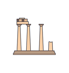 old temple icon cartoon style vector image