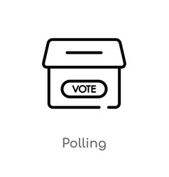 Outline polling icon isolated black simple line vector