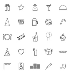 Party line icons on white background vector