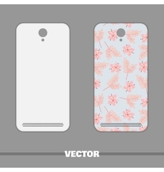 Phone Cover Pink Flowers vector