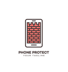 phone protect logo vector image