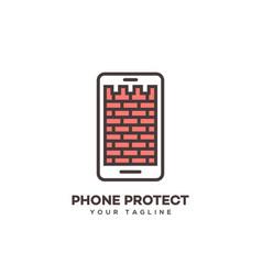 phone protect logo vector image