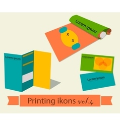 Print icons set4 vector image