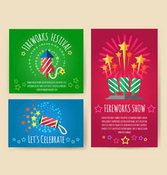 Pyrotechnics show posters vector