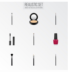 realistic fashion equipment cosmetic stick vector image