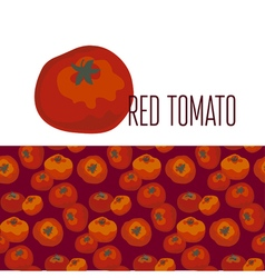 red simple tomato pattern vector image