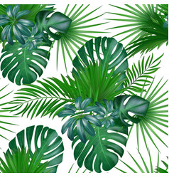 Seamless hand drawn realistic botanical exotic vector