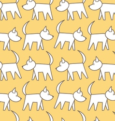 seamless pattern dog vector image