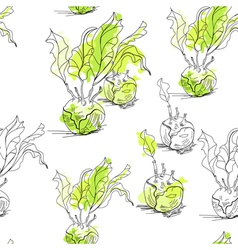 seamless pattern with celery vector image