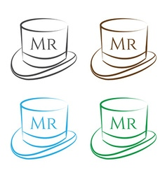 set of hats vector image