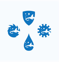 Shark logo sign symbol vector
