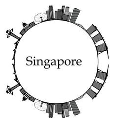 Singapore city skyline vector