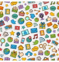 Sticker mobile apps pattern vector