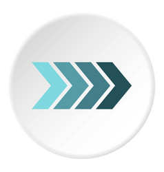 striped arrow icon circle vector image