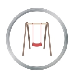 Swing seat icon in cartoon style isolated on white vector image
