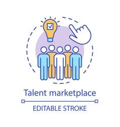 Talent marketplace concept icon vector