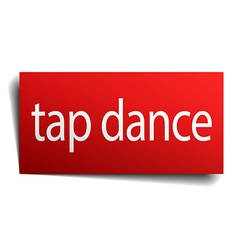 Tap dance red paper sign on white background vector