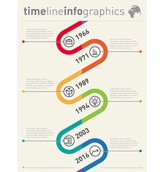 timeline infographic Business graphic elements vector image vector image
