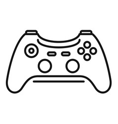 Wireless controller icon outline style vector
