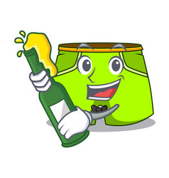 With beer fashion short pants isolated on mascot vector