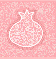 With graphic pomegranate vector