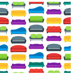 cartoon sofa or couch seamless pattern background vector image