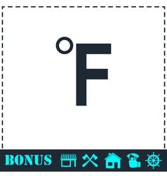 Fahrenheit icon flat vector