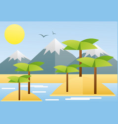 flat design of tropical summer vector image vector image