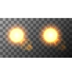 modern sun set background vector image vector image