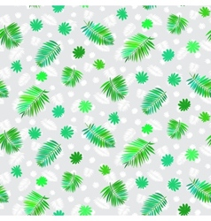 Pattern with leafs inspired by tropical nature vector