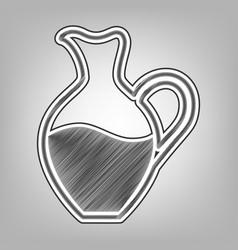 amphora sign pencil sketch imitation vector image vector image