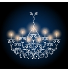 Antique gothic vintage chandelier vector image