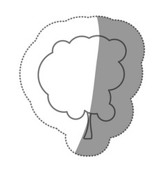 contour beautiful tree icon vector image vector image