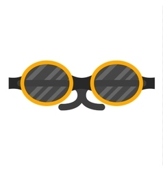 fashion glasses vector image vector image