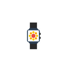 flat icon smart watch element vector image vector image