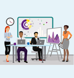 business team managers vector image