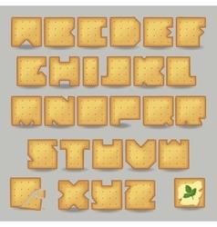 Cracker artistic font vector