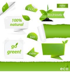 Eco Green Set vector image vector image